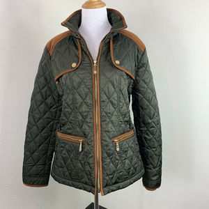 Vince Camuto Quilted Soft Puffer Full Zip Jacket L